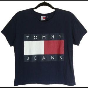 Tommy Jeans Blue Mid-Crop Logo Tee